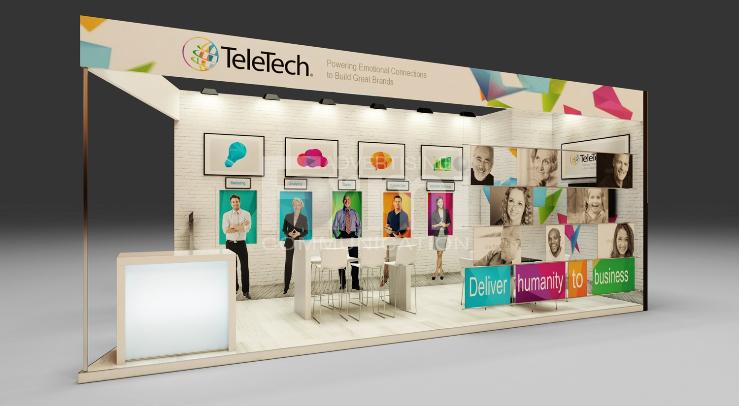 Marketing Exhibition Stand Years : Teletech exhibition stand formi